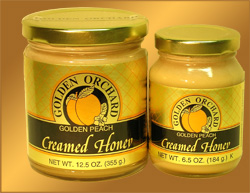 Golden Orchard's fragrant Peach Creamed Honey
